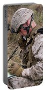 A Satellite Communications Specialist Portable Battery Charger by Stocktrek Images
