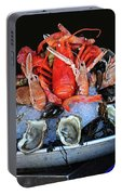 A Seafood Orgy Portable Battery Charger
