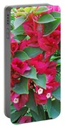 A Section Of Pink Bougainvillea Flowers Portable Battery Charger