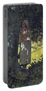 A Shady Spot Portable Battery Charger by Winslow Homer