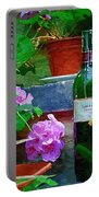 A Sip Of Wine Portable Battery Charger by Amanda Moore