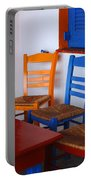 Colorful Table And Chairs Greece Portable Battery Charger