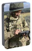 A Soldier Inputs The Firing Data Portable Battery Charger