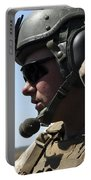 A Soldier Keeps In Radio Contact Portable Battery Charger by Stocktrek Images
