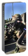 A Soldier Scans The Horizon Portable Battery Charger