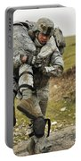A Soldier Transports A Fellow Wounded Portable Battery Charger