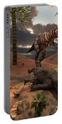 A T-rex Comes Across The Carcass Portable Battery Charger