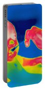 A Thermogram Of Feeding A Baby Portable Battery Charger by Ted Kinsman