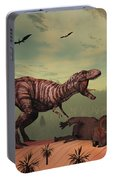 A Triceratops Falls Victim Portable Battery Charger
