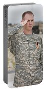 A U.s Army Soldier And Recipient Portable Battery Charger