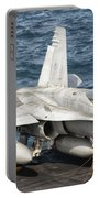 A Us Navy Fa-18c Hornet Tied Portable Battery Charger by Giovanni Colla