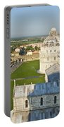 A View From The Bell Tower Of Pisa  Portable Battery Charger
