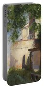 A View Of Venice From A Terrace Portable Battery Charger