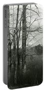 A View Through The Trees Bw Portable Battery Charger