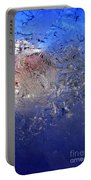 A Wintry Icy Window Portable Battery Charger