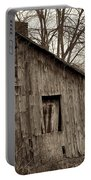 Abandoned Farmstead Facade Portable Battery Charger