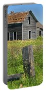 Abandoned Prairie Farmhouse No.4221 Portable Battery Charger