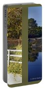 Abbotts Pond - Gently Cross Your Eyes And Focus On The Middle Image Portable Battery Charger
