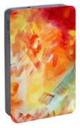 Abstract Art Colorful Bright Pastels Original Painting Spring Is Here I By Madart Portable Battery Charger