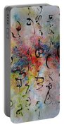 Abstract Calligraphy115 Portable Battery Charger