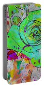 Abstract Childlike Rose Portable Battery Charger