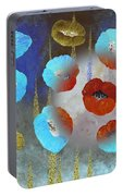 Abstract Colorful Poppies Portable Battery Charger