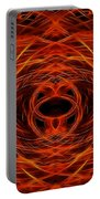 Abstract Fire Portable Battery Charger