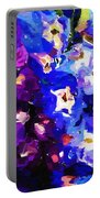 Abstract Floral 031112 Portable Battery Charger