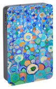 Abstract Flowers Field Portable Battery Charger