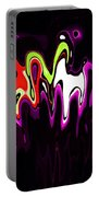 Abstract Fractals Melting 3 Portable Battery Charger