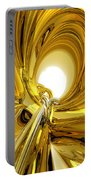 Abstract Gold Rings Portable Battery Charger