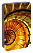 Abstract Golden Nautilus Spiral Staircase Portable Battery Charger