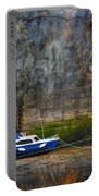 Abstract Harbour And Boat Portable Battery Charger by Svetlana Sewell