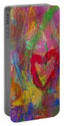 Abstract Heart Portable Battery Charger