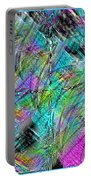 Abstract In Chalk Portable Battery Charger