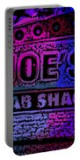 Abstract Joe's Crabshack Sign Portable Battery Charger