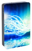 Abstract Lighting Effect  Portable Battery Charger