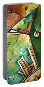 Abstract Martini Cityscape Contemporary Original Painting Martini Hour By Madart Portable Battery Charger