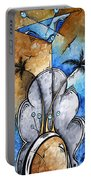 Abstract Martini Tropical Contemporary Original Painting Martini On The Beach By Madart Portable Battery Charger