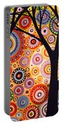 Abstract Modern Tree Landscape Distant Worlds By Amy Giacomelli Portable Battery Charger