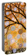 Abstract Modern Tree Landscape Dreams Of Gold By Amy Giacomelli Portable Battery Charger