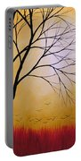 Abstract Original Tree Painting Summers Anticipation By Amy Giacomelli Portable Battery Charger