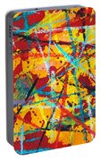 Abstract Pizza 1 Portable Battery Charger