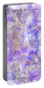 Abstract Purple Splatters Portable Battery Charger