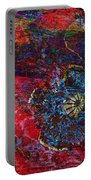 Abstract Red Poppy Portable Battery Charger