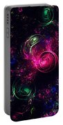 Abstract Roses Portable Battery Charger