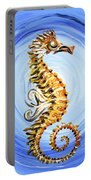 Abstract Sea Horse Portable Battery Charger