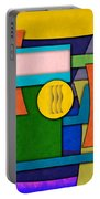 Abstract Shapes Color One Portable Battery Charger