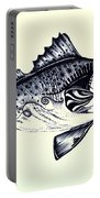 Abstract Speckled Trout Portable Battery Charger by J Vincent Scarpace