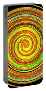Abstract Spiral Portable Battery Charger